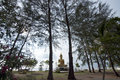 Buddha status shining with sky background Royalty Free Stock Photo