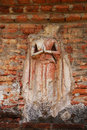 Buddha stucco decoration around the pagoda Stock Photos