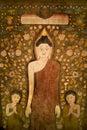 Buddha tapestry. Stock Photos