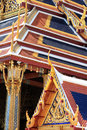 Buddha temple roof top decoration Royalty Free Stock Photos