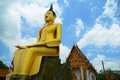 Buddha thai in angthong Stock Photos
