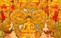 Buddha and Thai naga style. Stock Photos