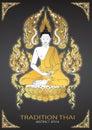 Buddha thai tradition vector