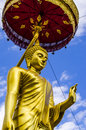 Buddha in thailand the gold Stock Images