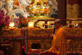 Buddha in tooth relic temple in china town singapore sep monk chanting on sep since opening the has become a popular Stock Image