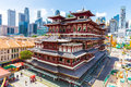 The Buddha Tooth Relic Temple in Singapore Royalty Free Stock Photo