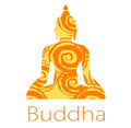 Buddha vector a great logo for the company Royalty Free Stock Photo