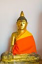 Buddha on the wall statue in wat phra borommathat chaiya province suratthani people worshiped in thailand Stock Image