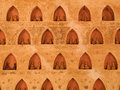 Buddha wall in vientiane laos red void Royalty Free Stock Images