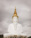 Buddha wat phra that pha kaew phetchabun thailand big Royalty Free Stock Photography