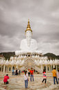 Buddha wat phra that pha kaew phetchabun thailand phetchaboon dec undefined traveler walk around main pagoda at sorn on december Stock Photos