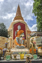 Buddha wat phra prathom chedi nakhon pathom pagoda and church of buddhism at province thailand july Royalty Free Stock Image