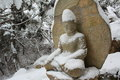 Buddha in winter Royalty Free Stock Photo