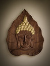 Buddha wood carving with vignette Royalty Free Stock Image