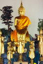 Buddhas in Wat Po Royalty Free Stock Photos