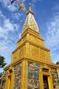 Buddhism buildings in from thailand Royalty Free Stock Image