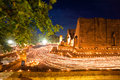 Buddhism Ceremony at temple ruin Royalty Free Stock Images
