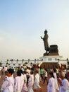 Buddhism light waving rite Stock Image