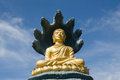 Buddhism model with clear sky Royalty Free Stock Photography