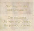 Buddhism philosophy and teaching quote Stock Images