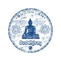 Buddhism rubber stamp