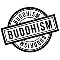 Buddhism rubber stamp Royalty Free Stock Photo