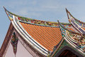 Buddhism temple roof Royalty Free Stock Images
