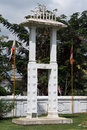 Buddhist bell near big stupa in tissamaharama in sri lanka Stock Photography