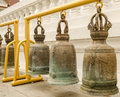 Buddhist bell in phechsamud temple in samudsongkham thailand Stock Photos