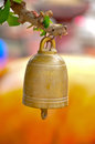 Buddhist bell small hanging to worship Royalty Free Stock Photo