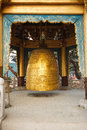 Buddhist bell in temple Royalty Free Stock Photo