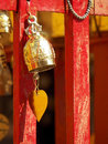 Buddhist bells inside the temple Royalty Free Stock Photos