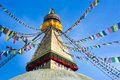 Buddhist Boudhanath Stupa. Nepal, Kathmandu Royalty Free Stock Photos