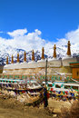 Buddhist gompas Royalty Free Stock Photo