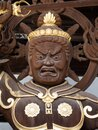 Buddhist guardian deity statue inside the gates of Nankobo, temple number 55 of Shikoku Royalty Free Stock Photo