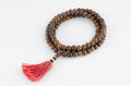 Buddhist mala prayer beads or hindu isolated on white background Royalty Free Stock Image