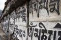 Buddhist mani prayer stones, Himalaya, Nepal Royalty Free Stock Images