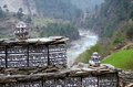 Buddhist mani stones near dudh kosi river nepal ancient with sacred mantras eastern everest region Royalty Free Stock Image