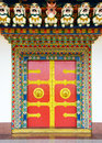 Buddhist monastery door in Nepal Royalty Free Stock Photo