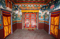 Buddhist monestary interior, muktinath Royalty Free Stock Images