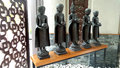Buddhist monk and buddha statues for decorate sculpture models of buddhism monks interior decore Royalty Free Stock Photos