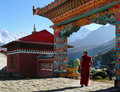 Buddhist Monk Monastery Himalayas Royalty Free Stock Photo