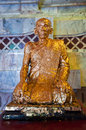 Buddhist monk statue Stock Photo