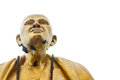 Buddhist monk statue white background Stock Photography