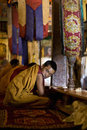 Leh, Ladakh, India, Buddhist monk, Thikse Gompa Monastery Royalty Free Stock Photo
