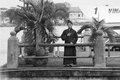Buddhist monk thu thiem ferry saigon ho chi minh vietnam Stock Photography