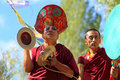 Buddhist monks on ceremony Stock Image
