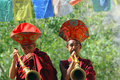 Buddhist monks on ceremony Royalty Free Stock Photography