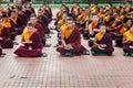 Buddhist monks kushalnagar india june th reading scripture in the monastery at kushalnagar india june th Stock Image