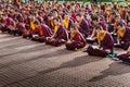 Buddhist monks kushalnagar india june th reading scripture in the monastery at kushalnagar india june th Royalty Free Stock Photos